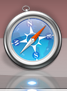 Safari icon with blue dot