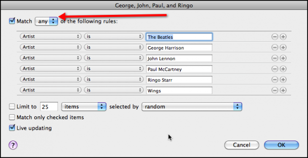George John Paul Ringo Smart Playlist