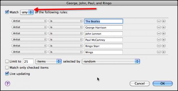 George John Paul Ringo Smart Playlist