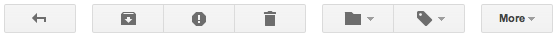 Gmail icon buttons