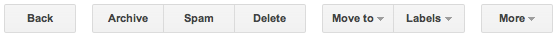Gmail text buttons