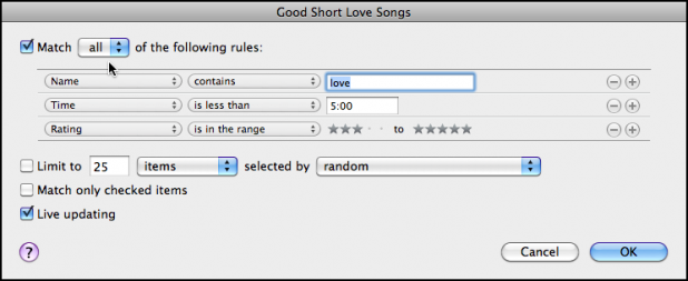 Good short love songs