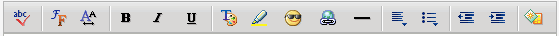 Yahoo Mail Classic Formatting Bar