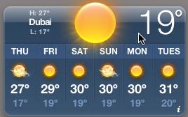 Dubai weather widget
