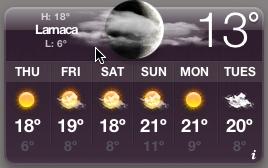 Larnaca weather widget